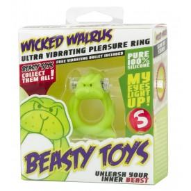 Зелёная вибронасадка Beasty Toys Wicked Walrus