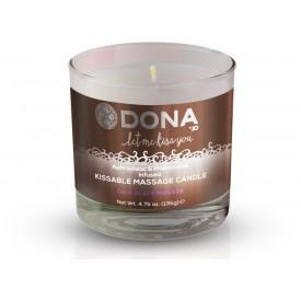 Массажная свеча DONA Chocolate Mousse с ароматом шоколадного мусса - 135 гр.
